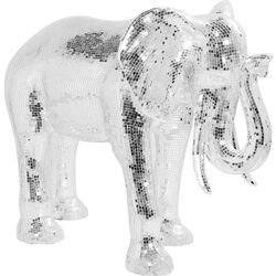 Deco Figurine Mosaic Elephant Silver