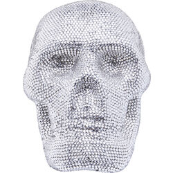 Deco Figurine Crystal Skull Silver Small