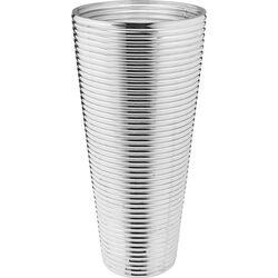 Vase Turbine Silver 40cm