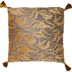Cushion Feathers Yellow 45x45cm