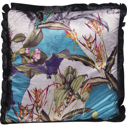 Cushion Flower Garden Fringe 45x45cm