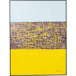 Picture Touched Meander Yellow 122x92cm
