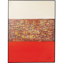 Picture Touched Meander Red122x92cm