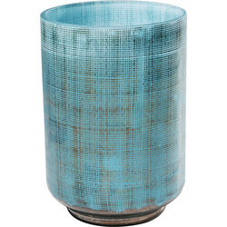 Vase Jute Light Blue 20cm