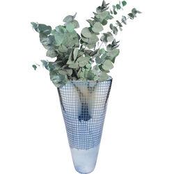 Vase Grid Luster Blue 48cm
