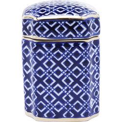 Deco Jar Mosaico Square Blau 16cm