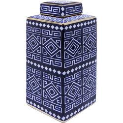Deco Jar Mosaico Square Blau 30cm