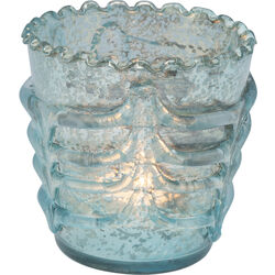 Tealight Holder La Ola Light Blue 10cm