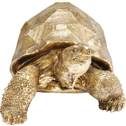 Deco Figurine Turtle Gold Medium