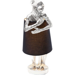 Table Lamp Animal Monkey Silver Black