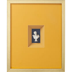 Deco Frame Ancient Bust Orange One 50x40cm