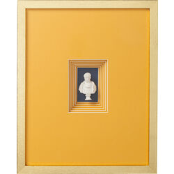 Deco Frame Ancient Bust Orange Three 50x40cm
