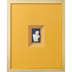 Deco Frame Ancient Bust Orange Four 50x40cm