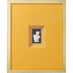 Deko Rahmen Ancient Bust Orange Four  50x40cm