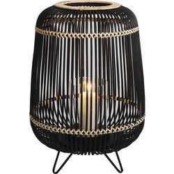 Lantern Bamboo Black 52cm