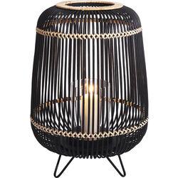 Lantern Bamboo Black 42cm
