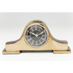 Table Clock Fireplace Gold