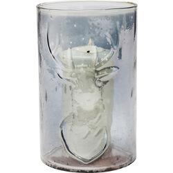 Teelichthalter Antlers Grau
