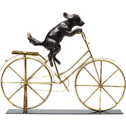 Objeto deco Dog With Bicycle