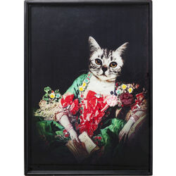 Picture Frame Lady Cat 80x60cm