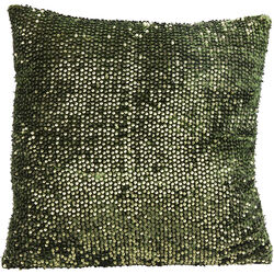 Cushion Paillette Green 45x45cm