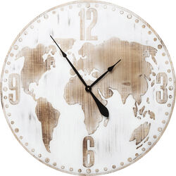 Wall Clock Antique World White Ø80cm