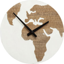 Wall Clock Antique Continent White Ø36cm