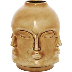Deco Vase Faces Rose Gold
