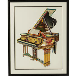 Picture Frame Art Piano 90x72cm