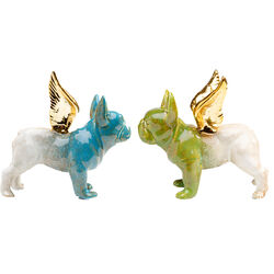 Deco Figurine Angel Wings Dog Assorted