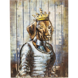 Tableau Iron Queen Dog 100x75cm