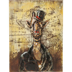 Picture Iron Gentlemen Giraffe 100x75cm