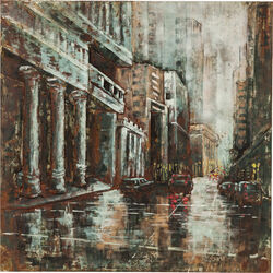Picture Iron Streets 100x100cm