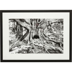 Picture Frame Traffic Tree 84x61cm
