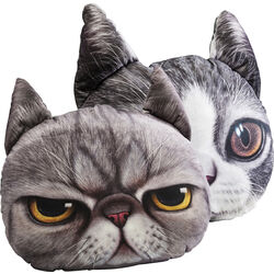 Cushion 3D Cat Face Assorted
