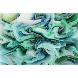 Picture Glass Storm Green 80x120cm