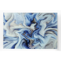 Picture Glass Storm Blue 80x120cm