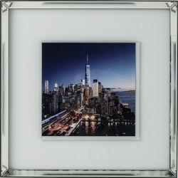 Picture Mirror Frame Manhattan Skyline 80x80cm
