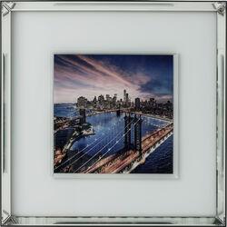 Picture Mirror Frame Manhattan Bridge 80x80cm