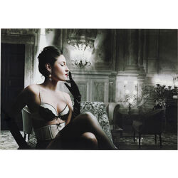 Picture Glass Dessous Lady 80x120cm