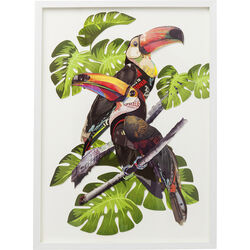Picture Frame Art Paradise Bird Couple 70x50cm