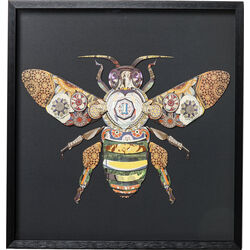 Picture Frame Art Bee 60x60cm