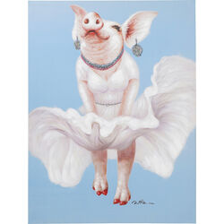 Picture Touched Pig Diva 120x90cm