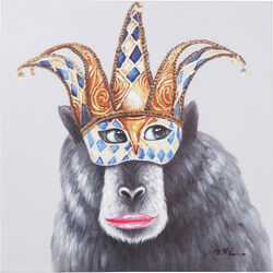 Picture Touched Carnival Monkey 70x70cm