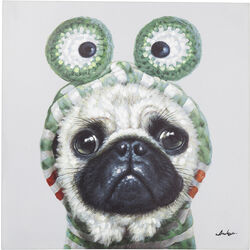 Picture Touched Frog Dog 70x70cm