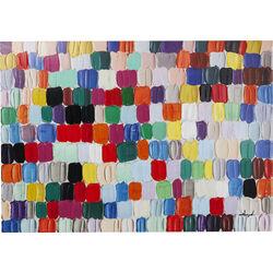 Tableau Touched Colorful Dots 140x200cm