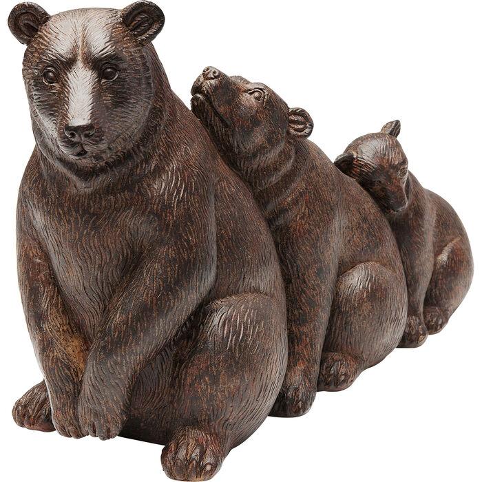 Marrone Kare Relaxed Bears Decorazione 20 x 32 x 12.5 cm