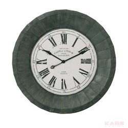 Wall Clock Paris Iron