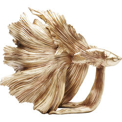 Deco Object Betta Fish Gold Small