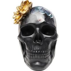 Oggetto decorativo Flower Skull 22cm